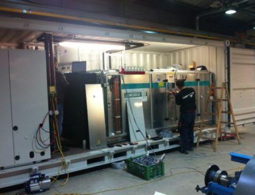 Mobile Klimaanlage für ein Montagezelt